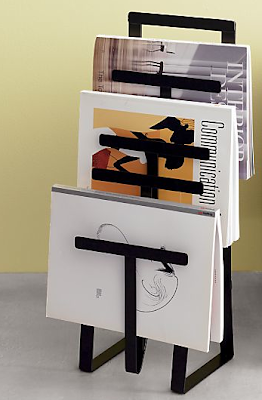 magazine rack, black