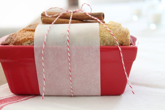 Christmas or hostess gift idea with easy cinnamon bread recipe