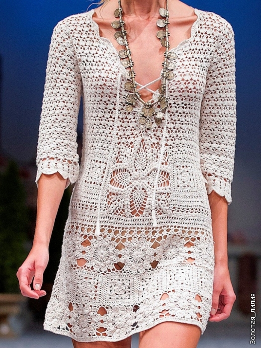 Несколько летних платьев крючком. 15754
