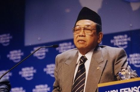 Abdurrahman Wahid at the World Economic Forum Annual Meeting in Davos, 2000