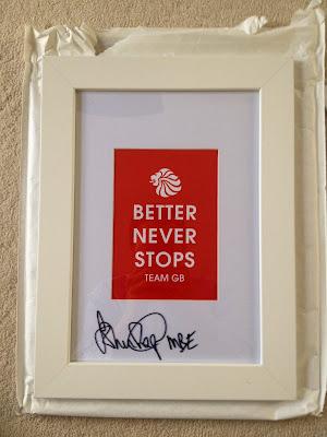 John Regis signed olympic memorabilia