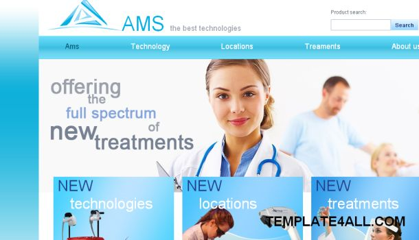 AMS Medical Health Blue Website Template