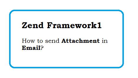 How to send Attachment in Email in zend framework1 - Send PDF File