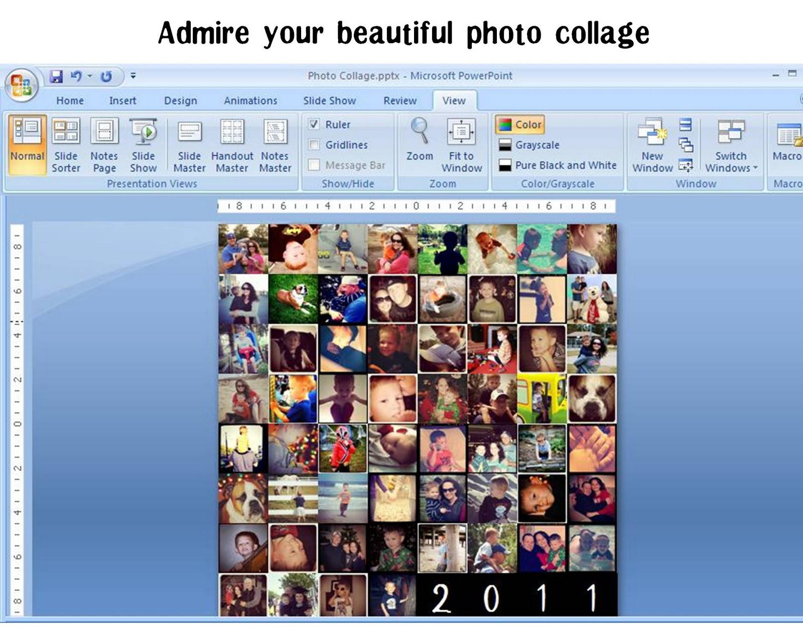 photo collage using powerpoint