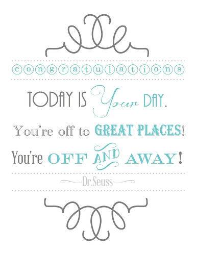 Free Printable Dr. Seuss Quote from Blissful Roots