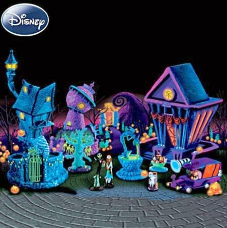Nightmare Before Christmas Blacklight Halloween Village