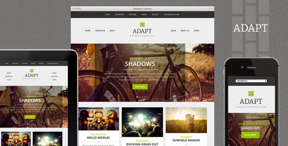 Adapt A Responsive Themeforest WordPress Theme Free
