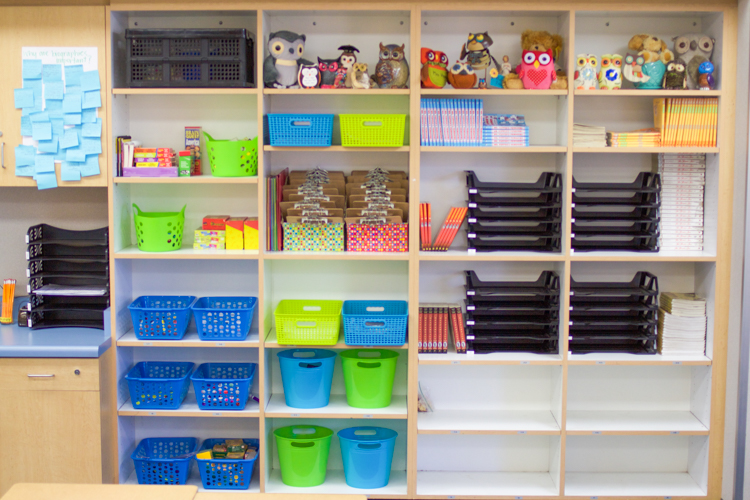 Classroom Storage Ideas ~ Classroom tour and ideas
