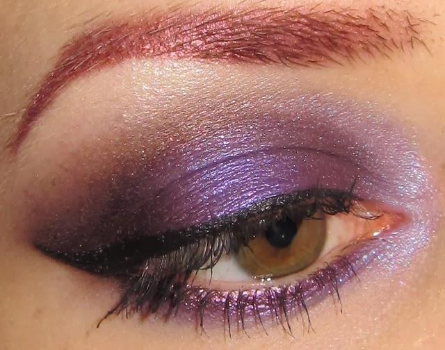 Glitter Is My Crack Purple And Brown Eye Makeup Look
