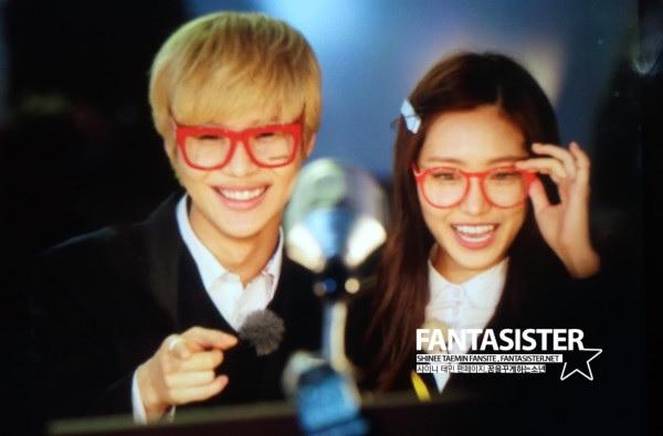 Taemin Na Eun filming We Got Married 130430