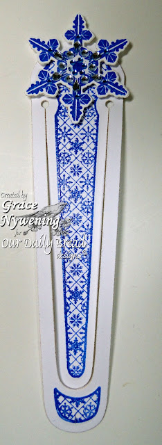 Our Daily Bread designs stamps, Bookmarks Snowflakes, Sparkling Snowflakes,  Grace Nywening