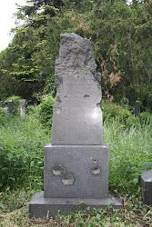Vandalized Jewish Gravestone