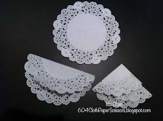 Paper skirt with doily tutorial by Ida Chan Stampin' Up! Vancouver