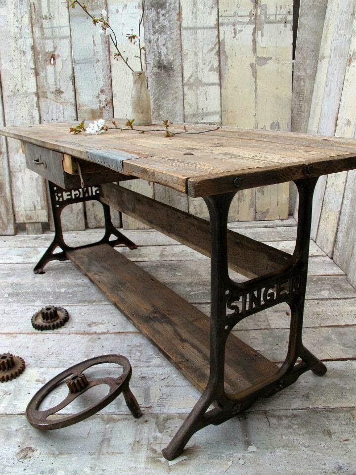 La buhardilla decoraci n dise o y muebles reutilizando - Mesas para coser a maquina ...