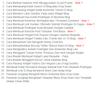 Daftar Isi Blog