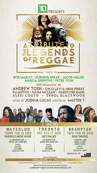 Tribute to the Legends of Reggae