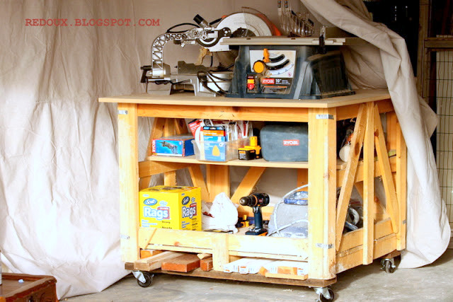 Shipping crate workbench - Redoux Interiors featured on I Love That Junk