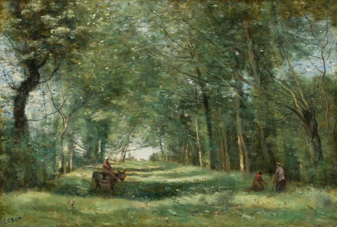 Jean Baptiste Corot - L'allée verte
