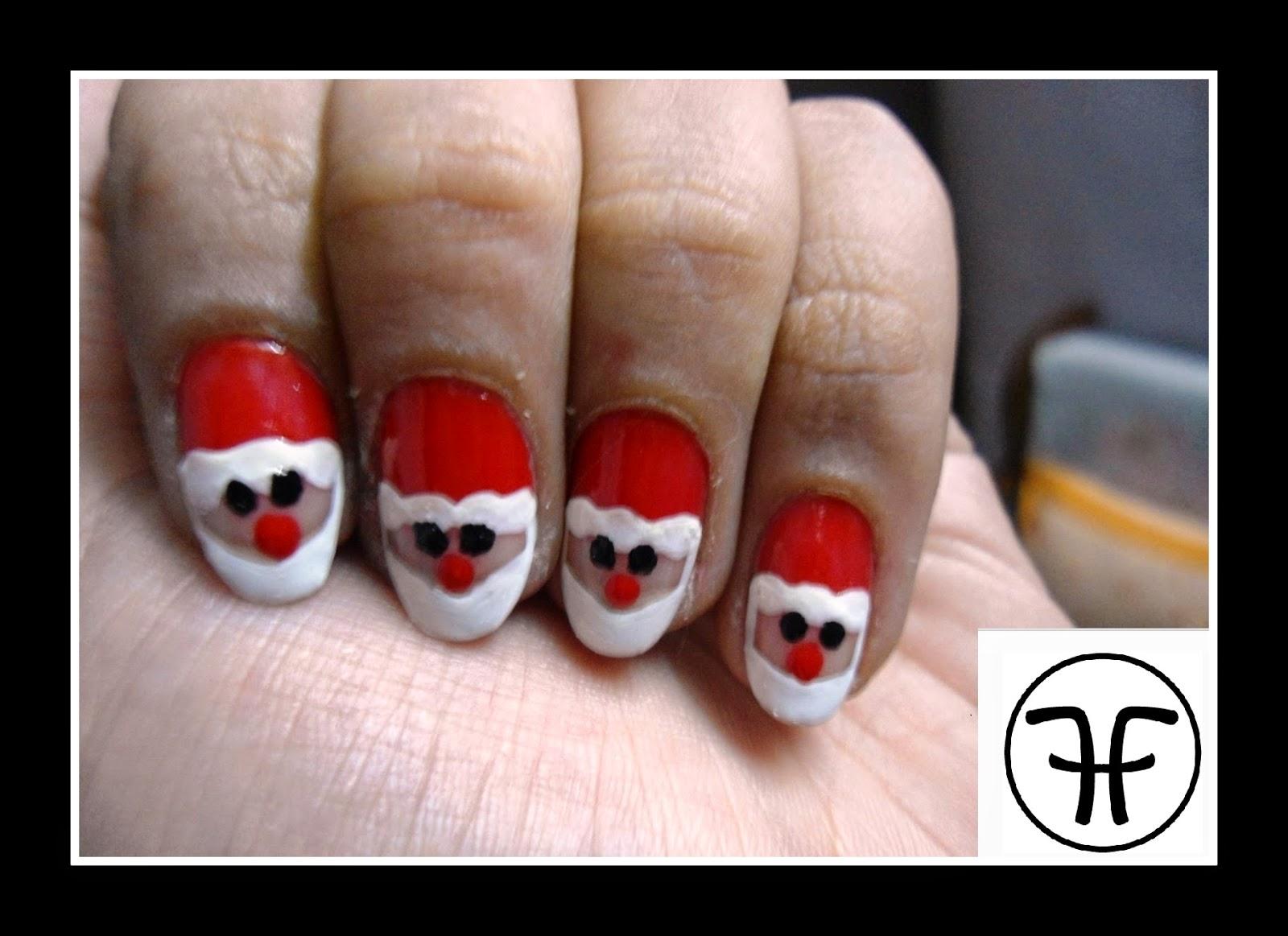 Fashhunny Nail Art Tutorial Santa Claus Nails