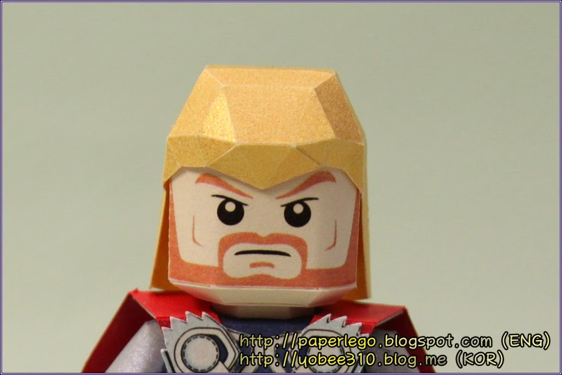 Making Lego Thor Paper Craft