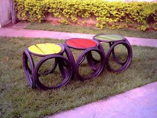 reciclagem usando pneus