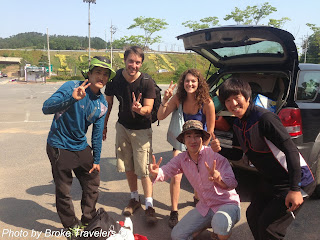 Hitchhiking in Boseong Korea