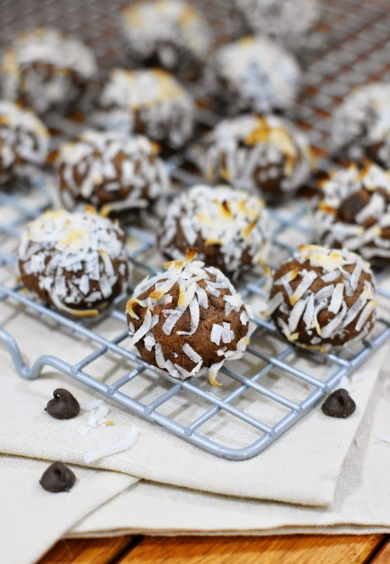 Fudgy Chocolate Coconut Drops