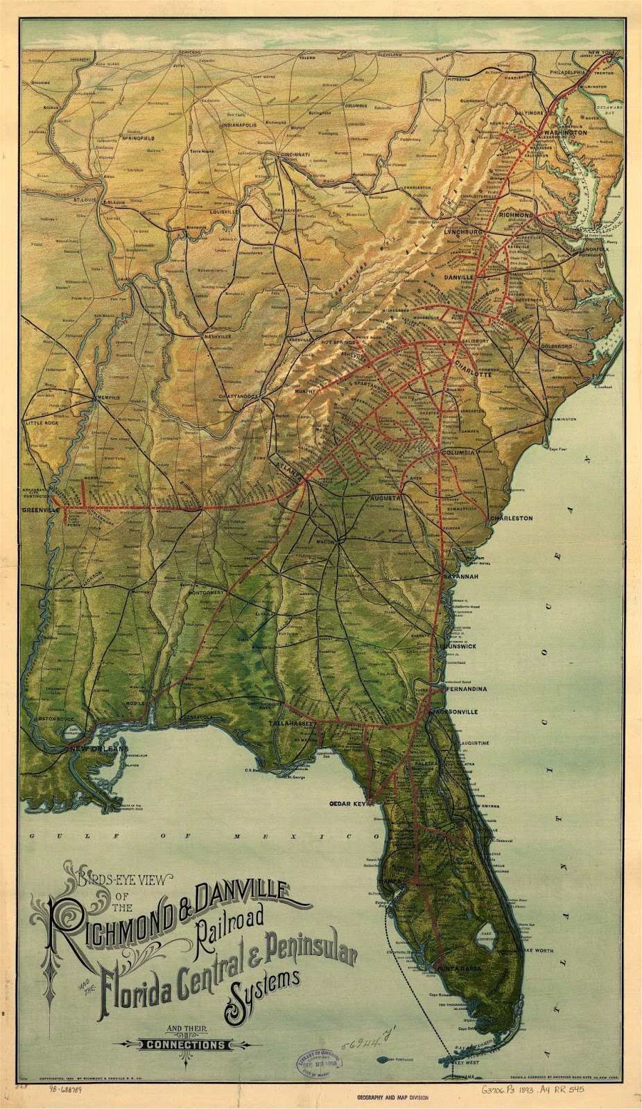 Bits Of History Danville And The Steam Railroad - Southeast us rail map