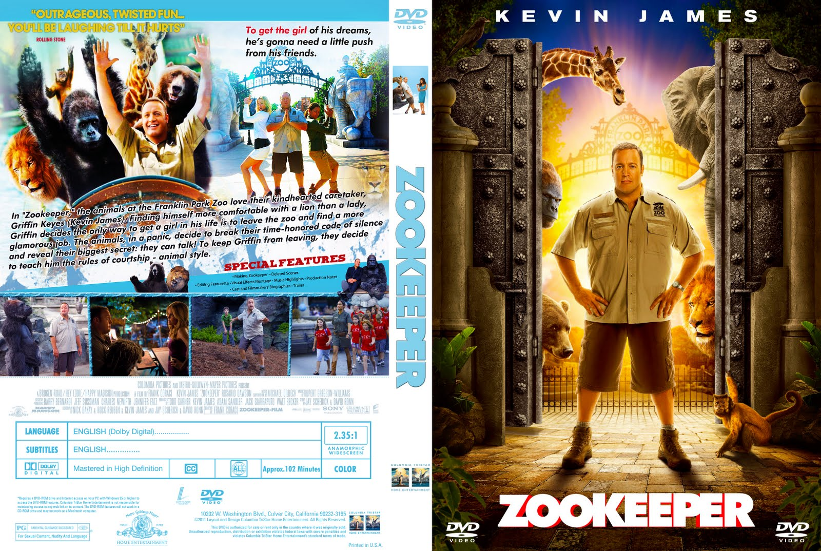 DVD COVERS AND LABELS: Zookeeper