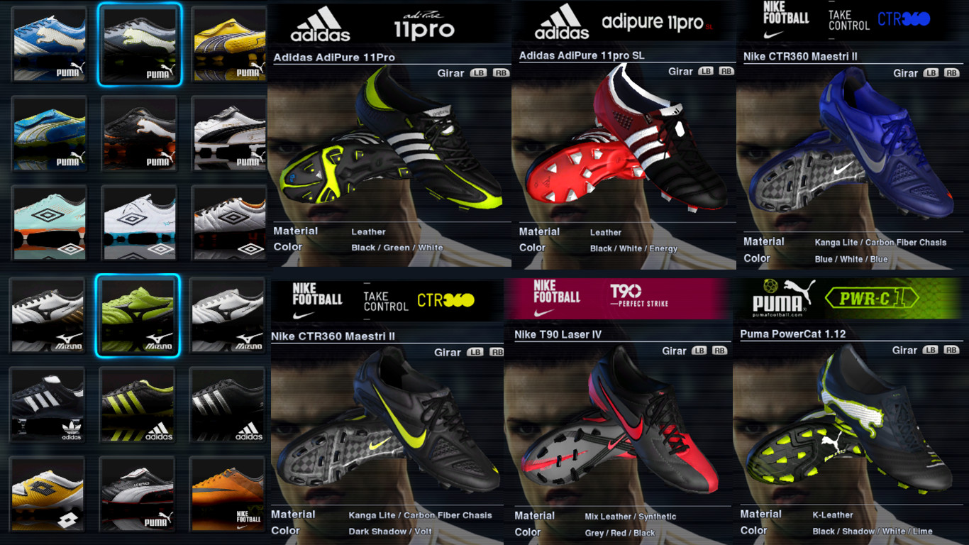 DOWNLOAD! Boot Pack for PES2012 (81 Boots & Replaced Original Boots on PES2012) - We Share, We Live