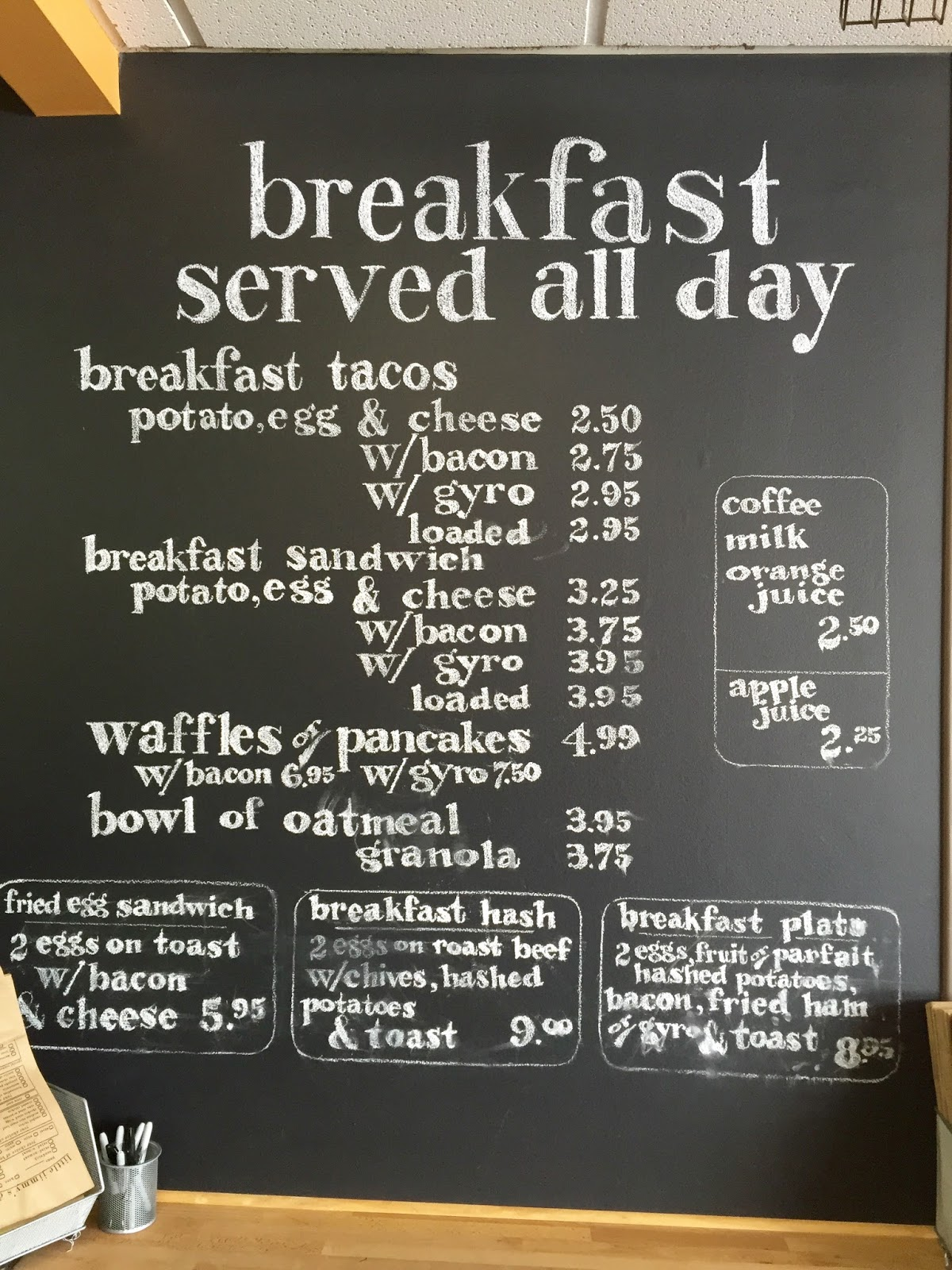 Little Jimmy's Breakfast Menu