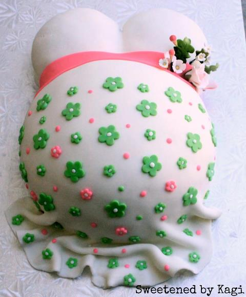 Last week's most popular link above & beyond was the Pregnant Belly Cake by ...