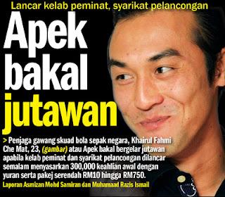 Khairul Fahmi (Apek ) bakal jutawan