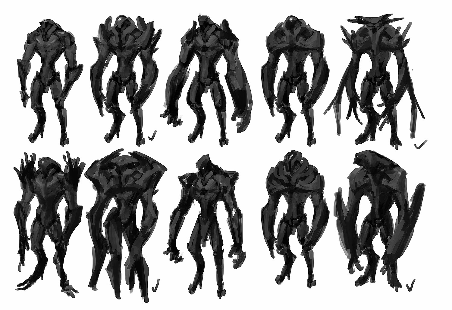 Character Concept Design Process : Cireisdead quick sketch session concept sculpts