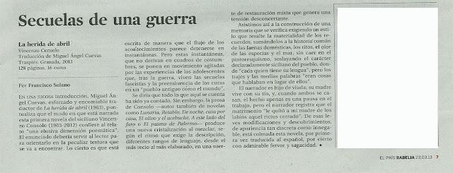 Consolo en El País