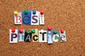 Imagem descrito Melhores práticas em inglês