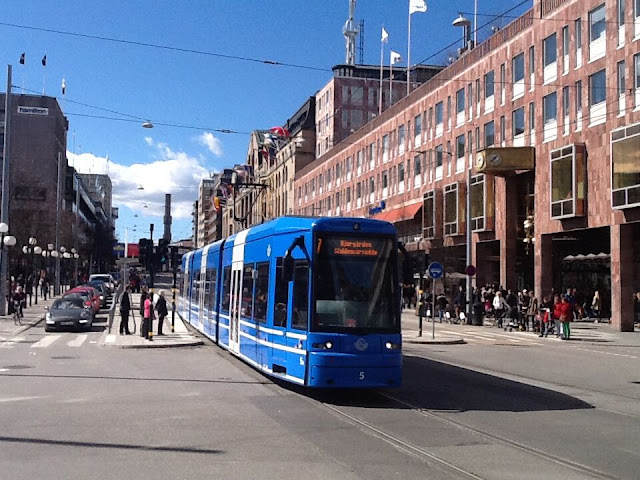 Stockholm. Capital of  Sweden. Swedish is a North Germanic language, spoken natively by about 9 million people in the Nordics, predominantly in Sweden and parts of Finland.