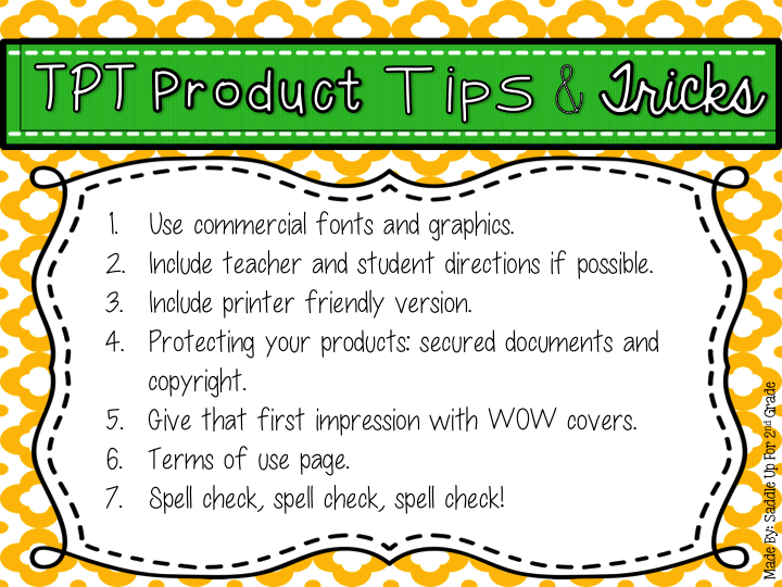 TPT Product Tips & Tricks by Saddle Up For 2nd Grade