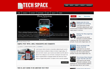 Tech Space Blogger Template
