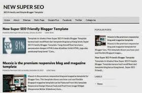 New Super Seo Blogger Template