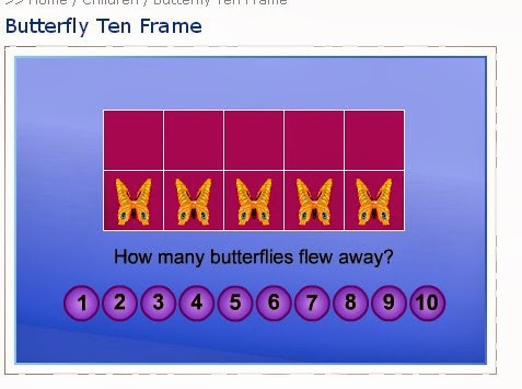 Butterfly Ten Frame