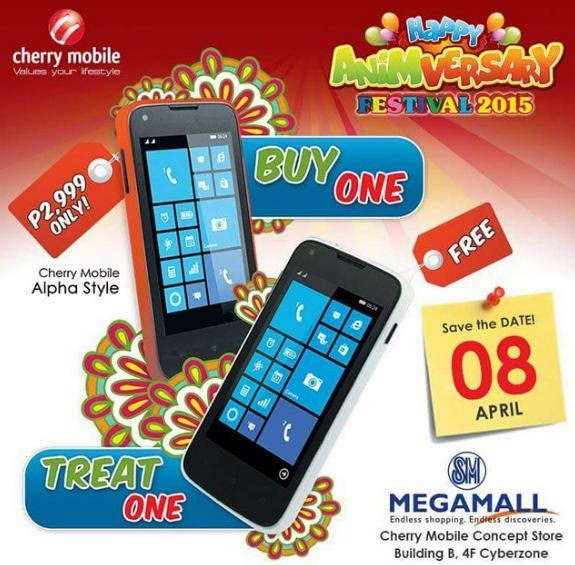 Cherry Mobile Alpha Style Buy 1 Take 1 Deal