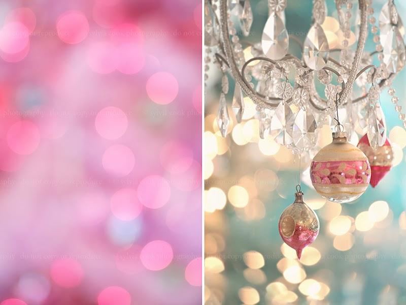 shabby chic Christmas, vintage ornaments, pastel