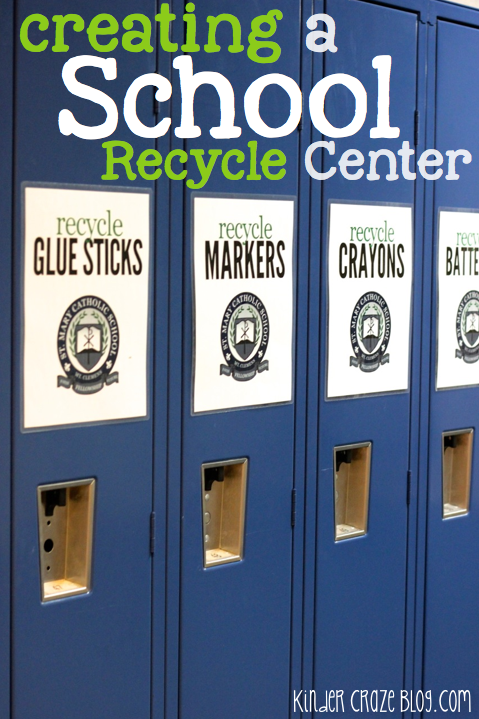 tips and resources to create a Recycle Center at your school