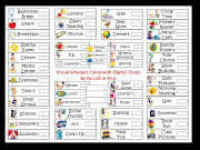 Visual Pocket Chart Schedule