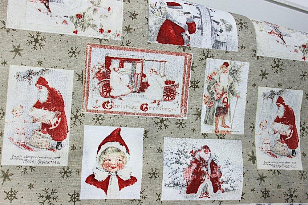 Jultyger och gardiner i lager