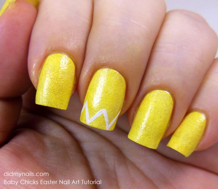 Did My Nails Baby Chicks Nail Art Tutorial