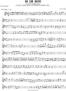 Ad lib blues transcription