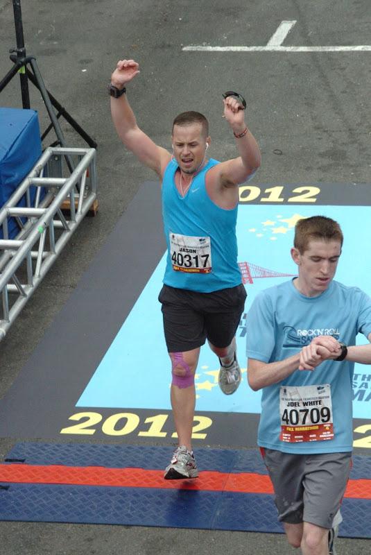 Crossing San Francisco Marathon Finish Line
