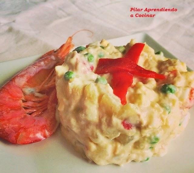 Aprendiendo a cocinar ensaladilla rusa potato salad for Cocinar ensaladilla rusa